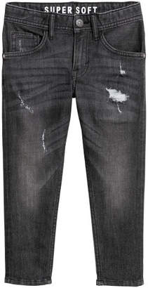 H&M Relaxed Tapered Fit Jeans - Black