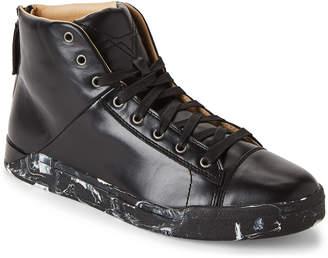 Diesel Black Tempus S-Emerald Leather High-Top Sneakers