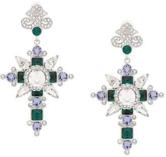 Dolce & Gabbana cross pendant earrings