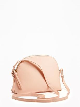 Faux-Leather Half-Moon Bag for Women $26.94 thestylecure.com