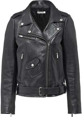 Miu Miu zip-up leather jacket