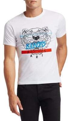 Kenzo Hyper Tiger Cotton Screen Print Tee
