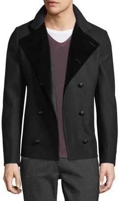 John Varvatos Men's Velvet-Lined Pea Coat