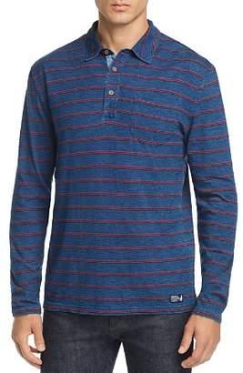 Johnnie-O Tilly Striped Long-Sleeve Polo Shirt