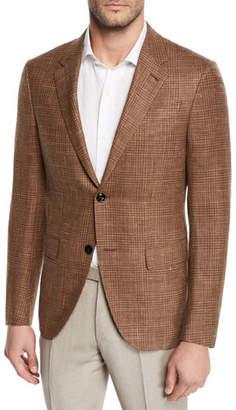 Ermenegildo Zegna Men's Camel Check Sport Coat