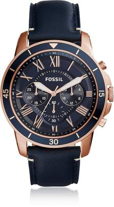 Fossil Grant Sport Chronograph Blue Leather Men's Watch