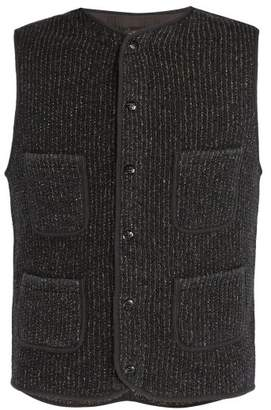 Blend of America Rrl - Textured Cotton Gilet - Mens - Dark Navy