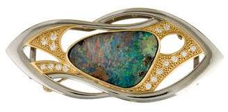 Bi-Color Opal & Diamond Brooch