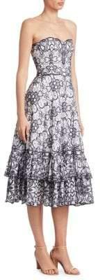 Jonathan Simkhai Embroidered Scalloped Dress