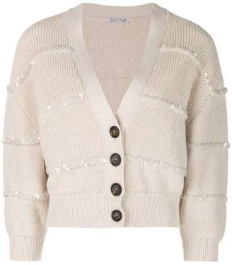 Brunello Cucinelli cropped button cardigan
