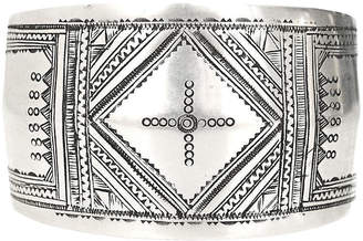 One Kings Lane Vintage Tuareg Engraved Sterling Silver Cuff - Marteau Jewelry