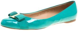 Salvatore Ferragamo Green Patent leather Flats