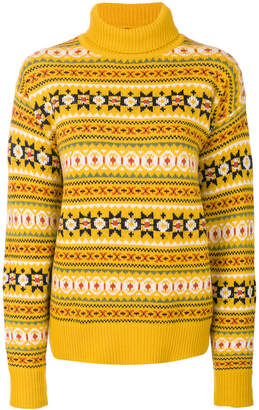 Joseph fair isle turtleneck sweater