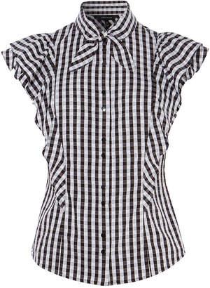 6022ac5385 Black And White Gingham Shirt Women - ShopStyle UK