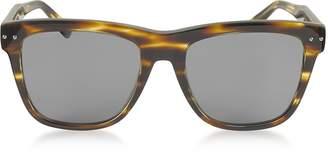 Bottega Veneta BV0098S 002 Light Havana Acetate Frame Unisex Sunglasses