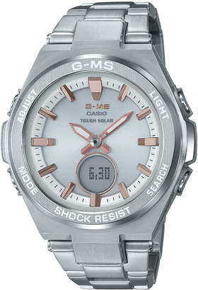 G-Shock Women Solar Analog-Digital Stainless Steel Bracelet Watch 38.4mm