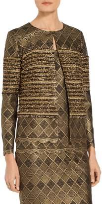 St. John Flashy Gold Stripe Knit Jacket
