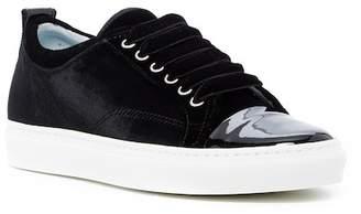 Lanvin Cap Toe Velvet Sneaker