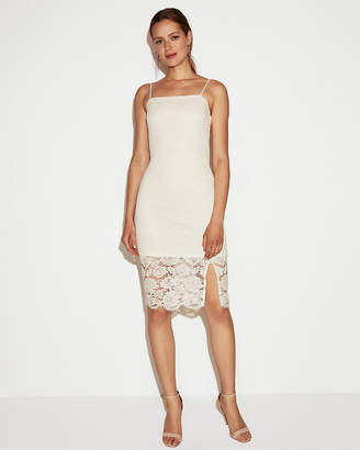Express Petite Lace Sheath Dress