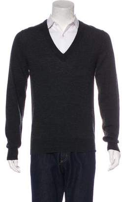 Dolce & Gabbana Lurex-Striped Wool Sweater