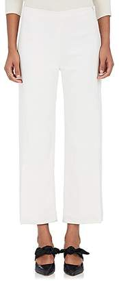 The Row Women's Paler Stretch-Cady Crop Trousers - Off White