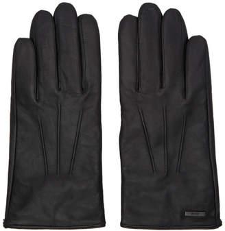 BOSS Black Leather Hainz Gloves