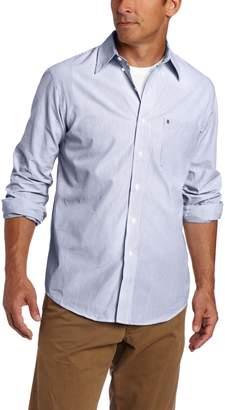 Izod Men's Big and Tall Essential Check Long Sleeve Shirt