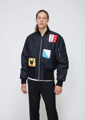 J.W.Anderson Embroidered Satin Bomber