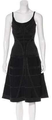 Herve Leger A-Line Bandage Dress
