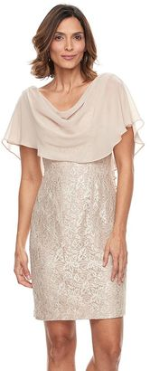 Women's Jessica Howard Glitter Lace Popover Dress $160 thestylecure.com