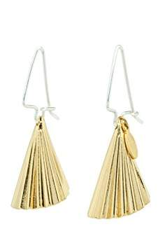 Wouters & Hendrix Women's Mixed Plated Copper Combined with Sterling Silver Cone Hook Earrings