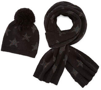 MIXIT Mixit Star Pom Beanie And Scarf 2-pc. Cold Weather Set