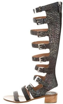 Laurence Dacade Embossed Gladiator Sandals $195 thestylecure.com