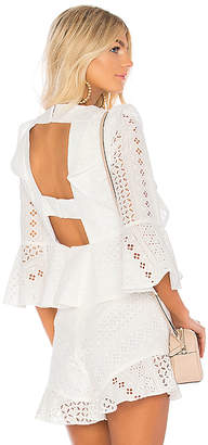 BCBGMAXAZRIA Kailey Ruffle Top