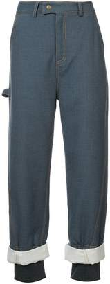 Rosie Assoulin embellished cuff trousers