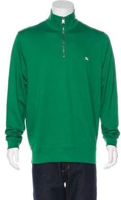 Burberry Equestrian Knight Half-Zip Sweater w/ Tags