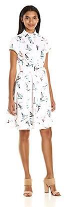 Chetta B Women's Boat Print Nautical Dress