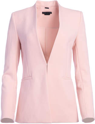Alice + Olivia JERRI LONG COLLARLESS BLAZER