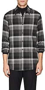 Theory Men's Menlo Checked Flannel Shirt - Dark Gray