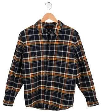 Brooks Brothers Boys' Padded Plaid Jacket