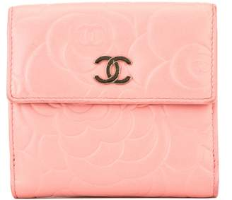 Chanel Pink Lambskin Camellia Compact Wallet (3970018)