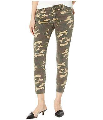 KUT from the Kloth Connie Crop Skinny Jeans w/ Raw Hem in Olive