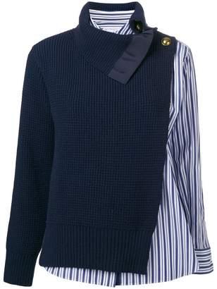 Sacai (サカイ) - Sacai セーターパネル シャツ