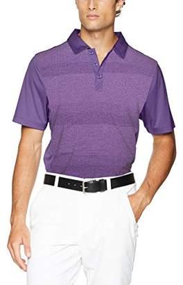 Cutter & Buck Men's Moisture Wicking Drytec Crescent Stripe Panel Polo Shirt