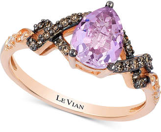 LeVian Le Vian Chocolatier Vibrant Orchid Cotton Candy Amethyst (8 ct. t.w.) & Diamond (1/5 ct. t.w.) in 14k Rose Gold