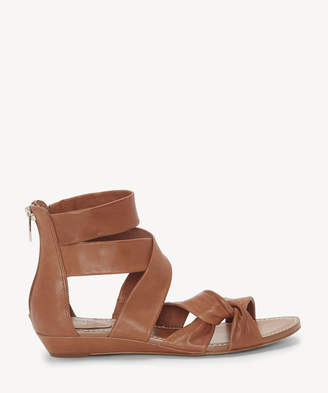 Vince Camuto Women's Seevina Strappy Low Wedges Sandals Roasted Cashew Size 5 Leather From Sole Society