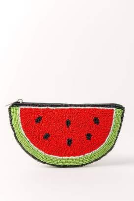 Shirdee Watermelon Beaded Coin Purse - Red