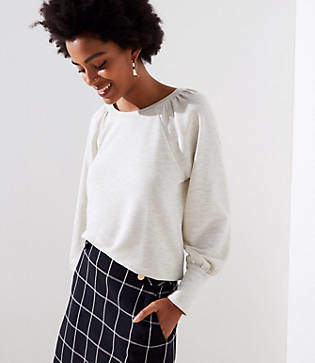 LOFT Draped Sleeve Sweatshirt