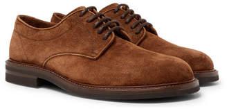 Brunello Cucinelli Suede Derby Shoes - Men - Dark brown