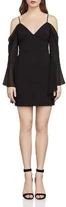BCBGMAXAZRIA Pamella Bell Sleeve Cold-Shoulder Dress